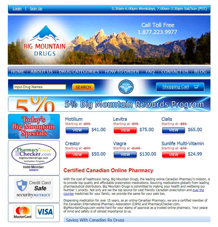 big mountain drugs is a canadian based online pharmacy that allegedly works with leading pharmaceutical suppliers to dispense top quality medications at - Best Prescription Discount Card Reviews