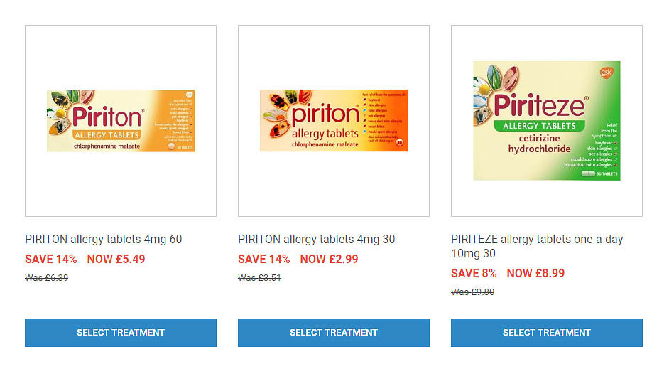 allergy tablets (save 14%)