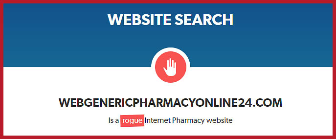 a rogue internet pharmacy website