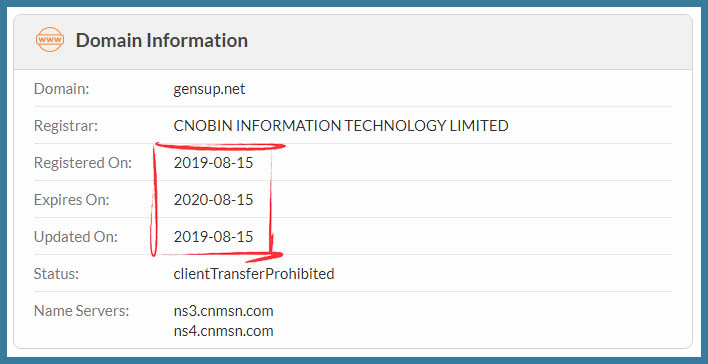 just registered domain name