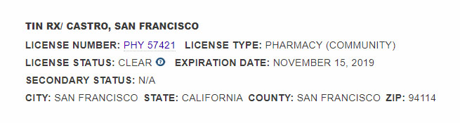 Board of Pharmacy for California
