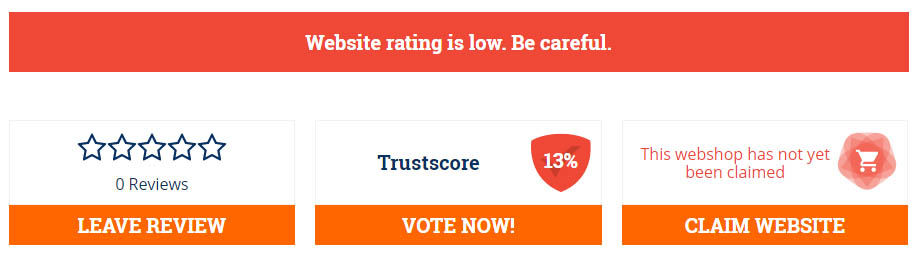 low rating of 13%