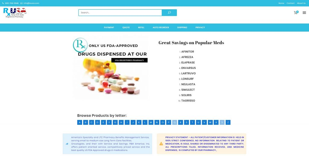 pharmacy main page
