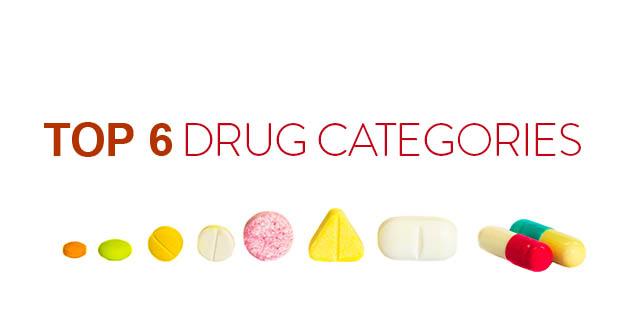 top 6 drug categories